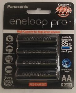 s l300 - Panasonic Eneloop Pro - AA NiMH Rechargeable Batteries x 4 - Made in JAPAN