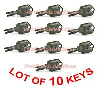 10 Pollak Keys For Ignition Switch, Forklifts, Yale, Daewoo, Clark, Hyster