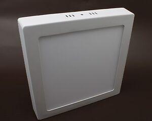 6w LED Panel Adorno anguloso 600lm Lámpara de techo para Montar Blanco Cálido [