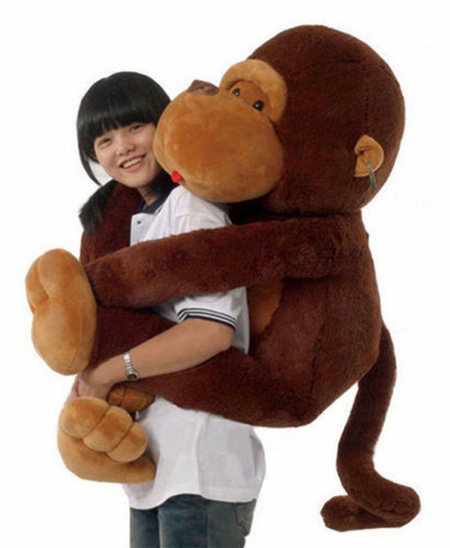Cheap Popular Xmas Gift Brown Monkey Gorilla Soft Stuffed Animal Plush Doll Toy
