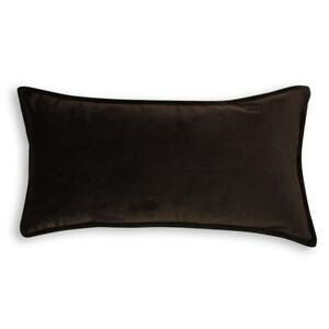 Details About 1 X Oblong Velvet Cushion Cover 30x60 Cm Chocolate Brown Quality Throw Pillow