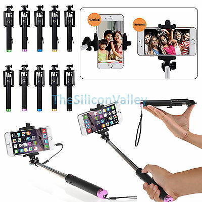 Extendable Wired/Wireless Bluetooth Selfie Stick Monopod for Samsung iPhone LG