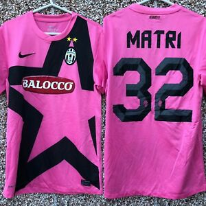 free shipping 231a5 6ab4b Details about Classic Juventus Away 2011 2012 shirt jersey Nike #32 Matri  Pink Small Adult