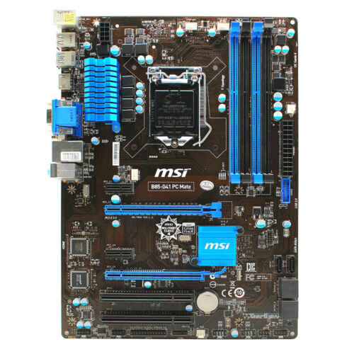 for MSI B85-G41 Mate Motherboard VGA HDMI DVI Intel ATX LGA1150 DDR3 SATA 6Gb//s