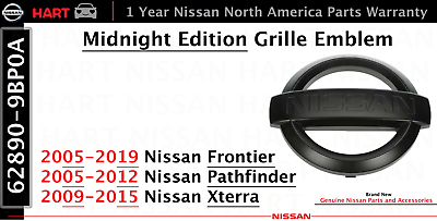 2005-2018 Nissan Frontier Pathfinder Xterra NV front grill emblem