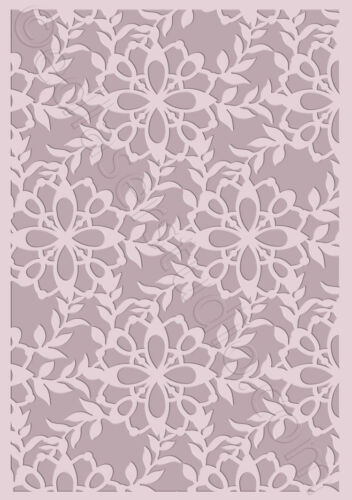 Floral Stencil Reusable Pattern Template Card making Paint Furniture Craft TE384