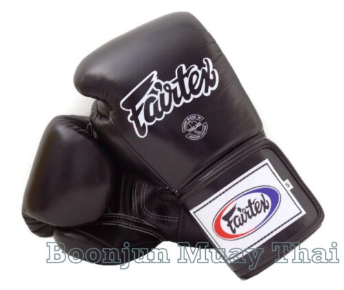 Fairtex Muay Thai Boxing Gloves BGV5 Super Sparring Black MMA K1 Kick 12 14 16