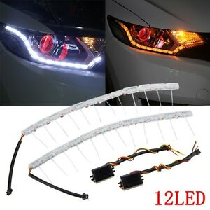 2x16led flexible headlight strip light tear eye turn. Black Bedroom Furniture Sets. Home Design Ideas