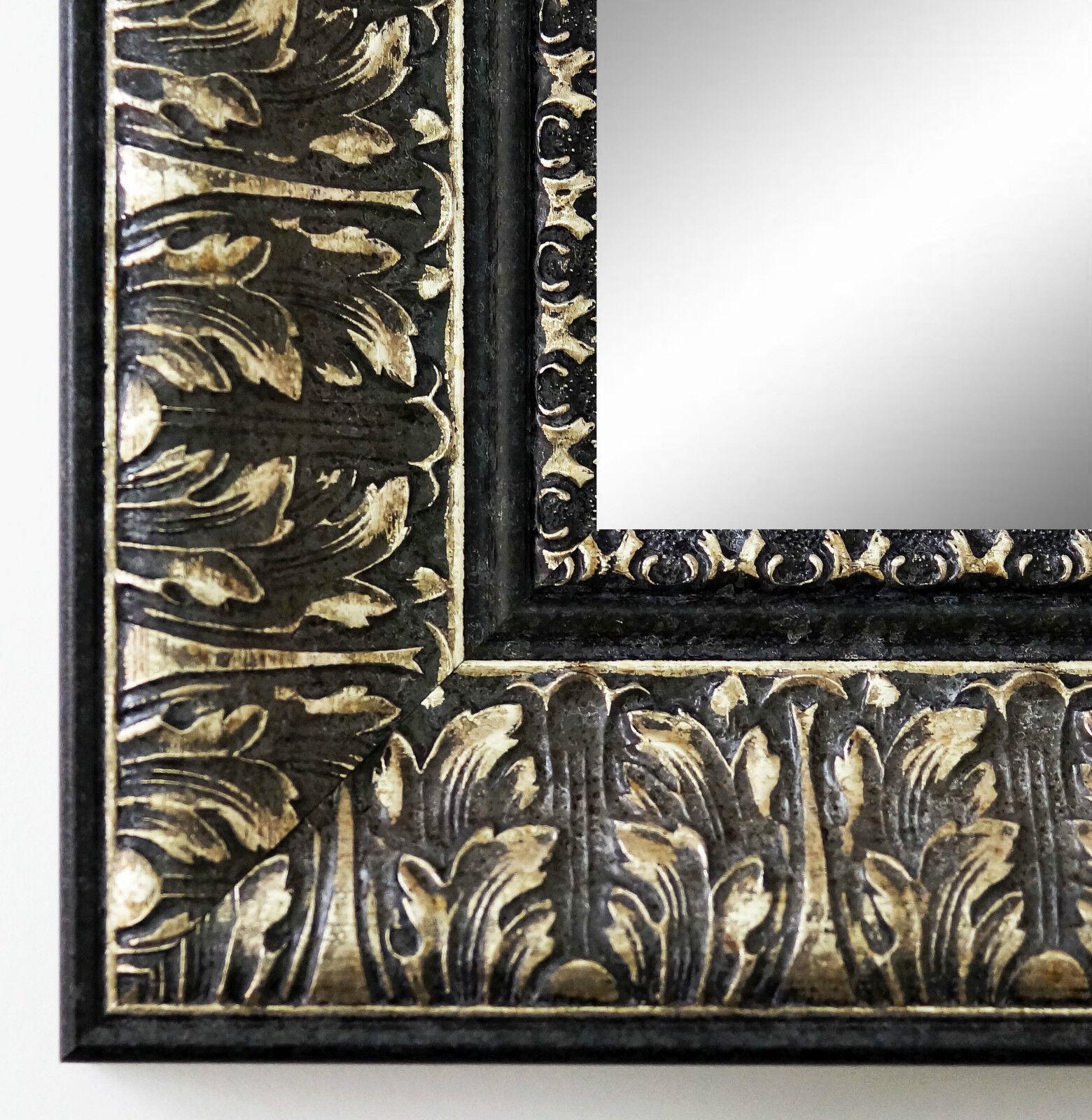Wandspiegel Hochformat Querformat Ancona Schwarz Silber 7,5 - NEU alle Größen