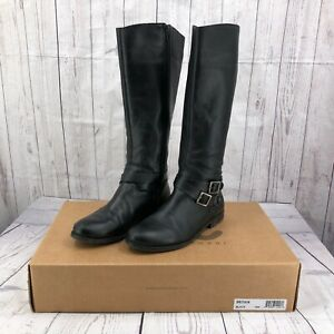 Matisse Britain Womens Riding Boots Size 10M Black Leather Knee High Tall Zipper