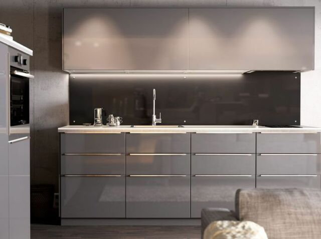 1 Ikea Ringhult Gloss Grey For Sektion Kitchen Cabinet Door 18 X 20 902 662 84
