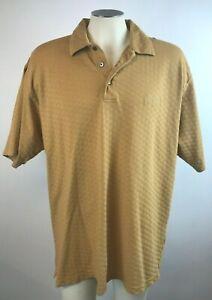 Bellagio-Las-Vegas-Mens-Short-Sleeve-Polo-Shirt-Cotton-Blend-Gold-XXL-EUC