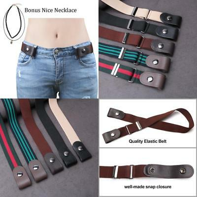 Buckle-Free Elastic Women Belt For Jeans Without Buckle Sansths Comfortable Inv