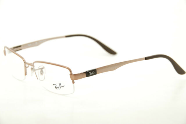 Authentic Ray Ban RB 6158 2531 Brown 53mm Half Rim Frames Eyeglasses ...