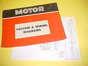 1965 1966 1967 1968 1969 Plymouth Barracuda Dodge Dart Vacuum Wiring Diagrams Ebay