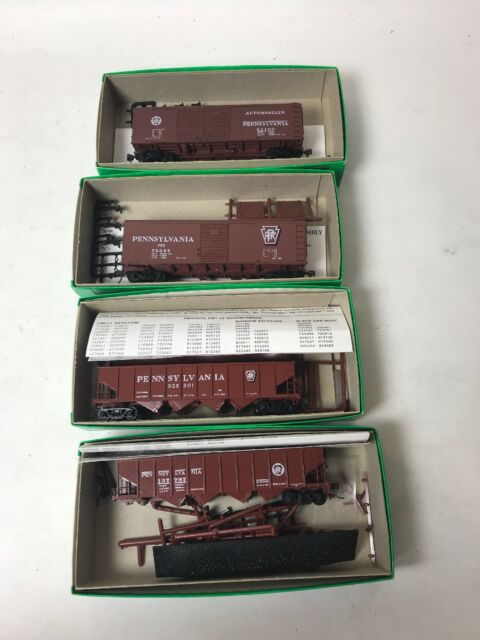 Bowser Lot Of 4 Train Card Pennsylvania RR HO scale