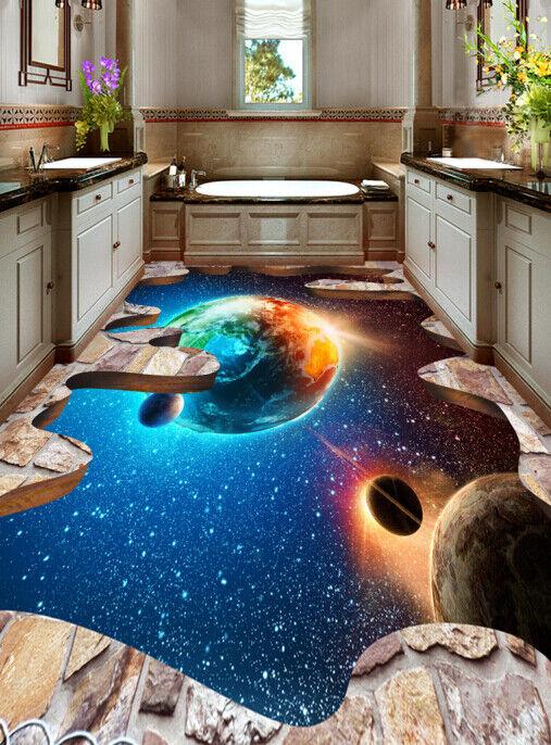 3D Planet 411 Fototapeten Wandbild Fototapete Tapete Familie DE Lemon
