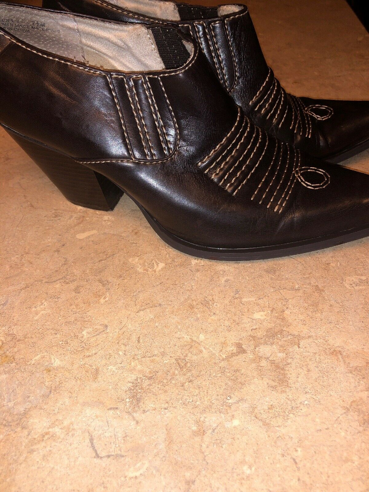 RAMPAGE Maura Closed Mules Cowboy Western Boot Sh… - image 3