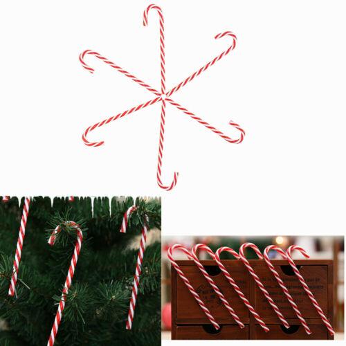 6//12x Christmas Candy Crutch Pendant Tree Hanging Cane Ornament Xmas Home Decors