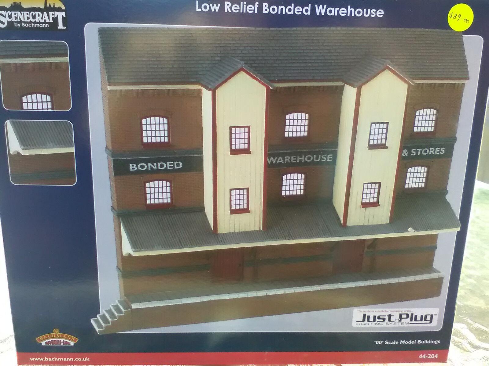 Bachmann Scenocraft låg Relief Bonded Warehouse OO gauge ref 44 -204
