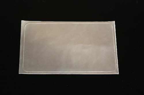 Overlay Crystal Clear Thin .05 mil Self Stick Inkjet Teslin ID Lot of 10
