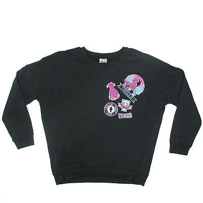Disney Dreamworks Womens Trolls Sweatshirt Size M Black Crew NEW NWT | eBay