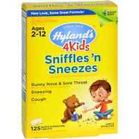 Hyland's 4 Kids Sniffles 'n Sneezes Quick-dissolving Tablets 125 Ea (pack Of 6) on sale