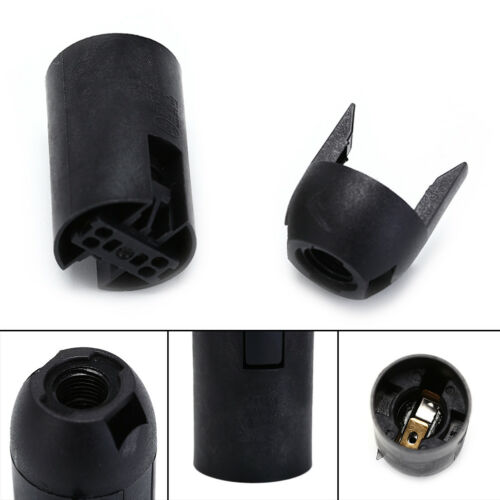 2x E14 Bulb Light Holder Lamp Socket Plastic LED Lighting Black White SE