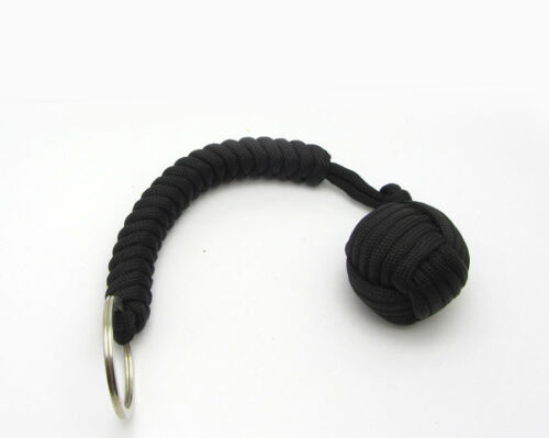 Hot 1pcs High Strength Paracord Lanyard Key Chain with 1/' Steel Ball Pick