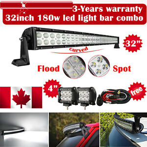32inch-Curved-Led-Light-bar-2X-4-034-CREE-Work-Pods-Offroad-Ford-Jeep-SUV-Truck-30