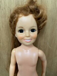 1969-CRISSY-DOLL-NUDE-Ideal-Toy-Corp-Red-Hair-that-grows-With-Shoes-E