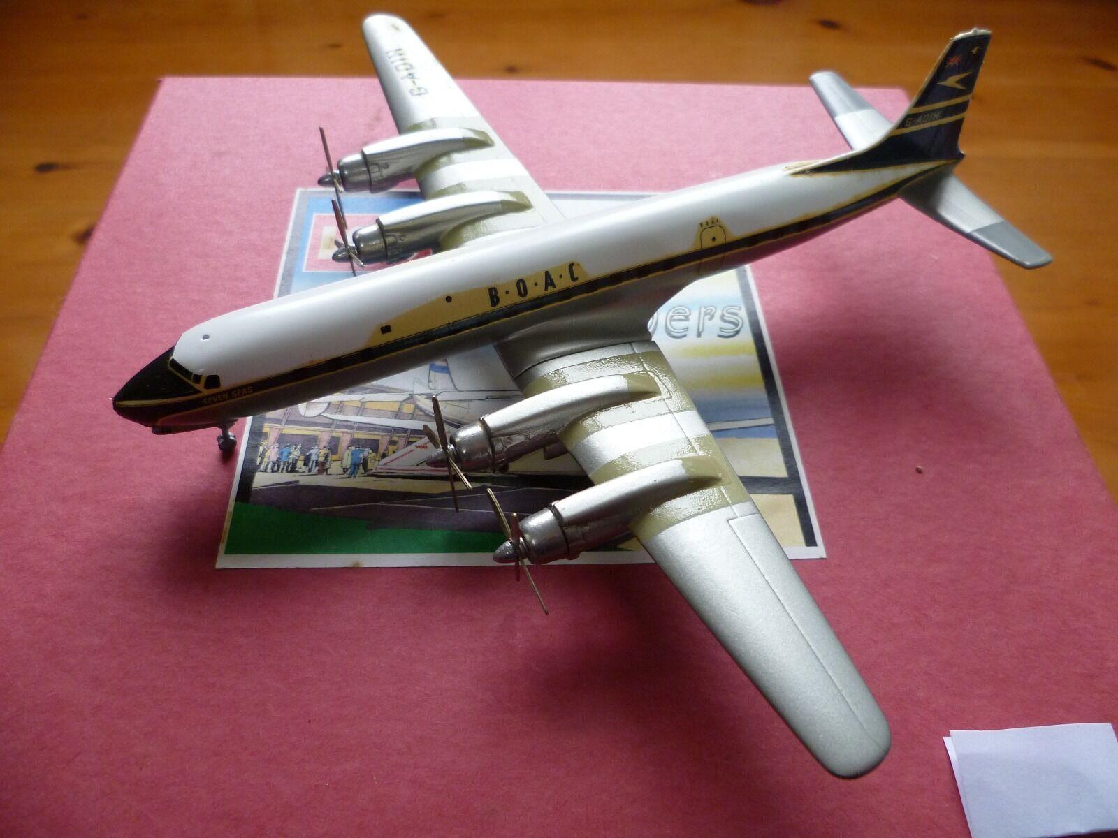 Molto RARO WESTERN MODELS CA2F DOUGLAS DC-7C B.O.A.C.  blu scuro Pinna Caudale