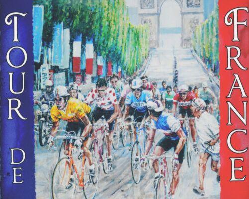 "10/"" x 8/"" TOUR DE FRANCE CYCLE RACE BICYCLE CYCLING METAL PLAQUE TIN SIGN N217"