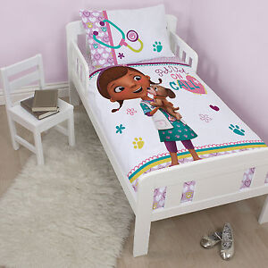 Image Is Loading DOC MCSTUFFINS COT TODDLER DOONA DUVET QUILT COVER