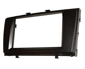 Facade-cadre-reducteur-2DIN-adaptateur-cache-autoradio-pour-Toyota-Avensis-2009