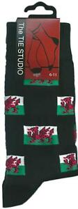 Welsh-Flag-Wales-Unisex-Novelty-Ankle-Socks-Adult-Size-6-11