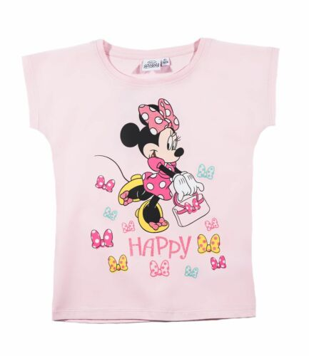 Girls Kids Official Character Various Short Sleeve T Tee Shirt Top 2-12 Years