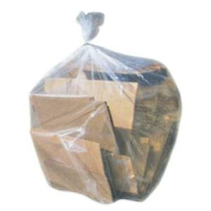 heavy duty 55 60 gallon 3 mil contractor trash bags 32 case garbage bags clear ebay. Black Bedroom Furniture Sets. Home Design Ideas