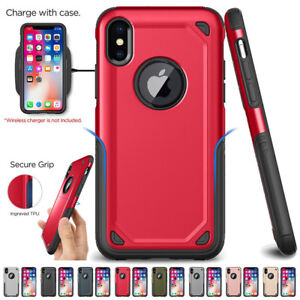 reputable site 28b63 987a0 Details about Hybrid Shockproof Rugged Silicone Bumper Armor Case Cover For  iPhone X 8 7 Plus