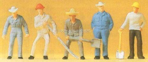OVP H0 Preiser 14017 Gleisbauarbeiter.Figuren