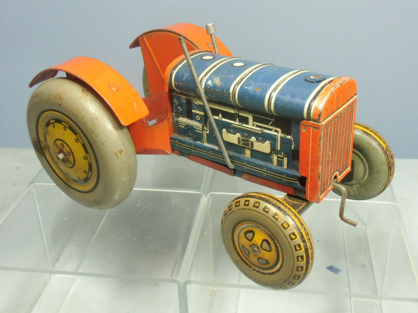 Vintage Hojalata MetJuguete Mecánica Modelo no. XXXX 10  Tractor