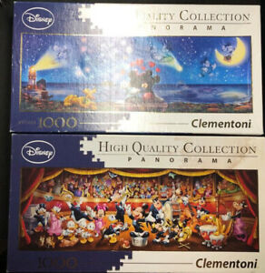 2x1000-Piece-Disney-panoramique-Jigsaw-Puzzles-Mickey-E-Minnie-amp-Disney-Classic