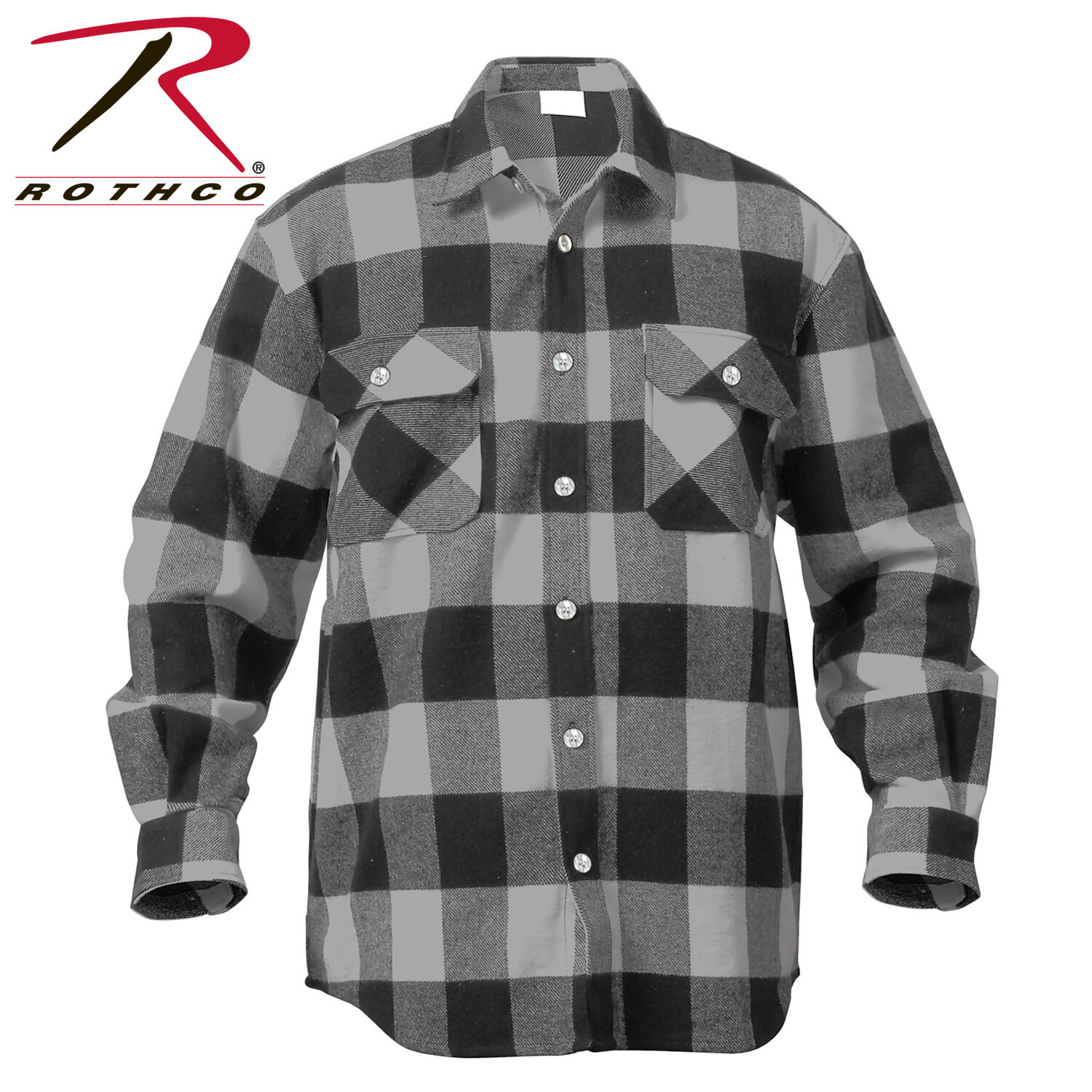 4335ba0ee5a redhco 4690 Extra Heavyweight Buffalo Plaid Flannel Shirts - Grey Plaid. La  Martina Buenos Aires Shirt bluee Size ...