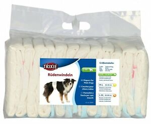Trixie-MALE-WRAP-Dog-Diapers-Disposable-Nappies-12-Pack-ALL-SIZES-MALE