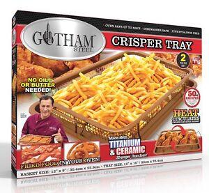 Gotham Steel Copper Crisper Tray Xl Air Fry 2 Piece Set