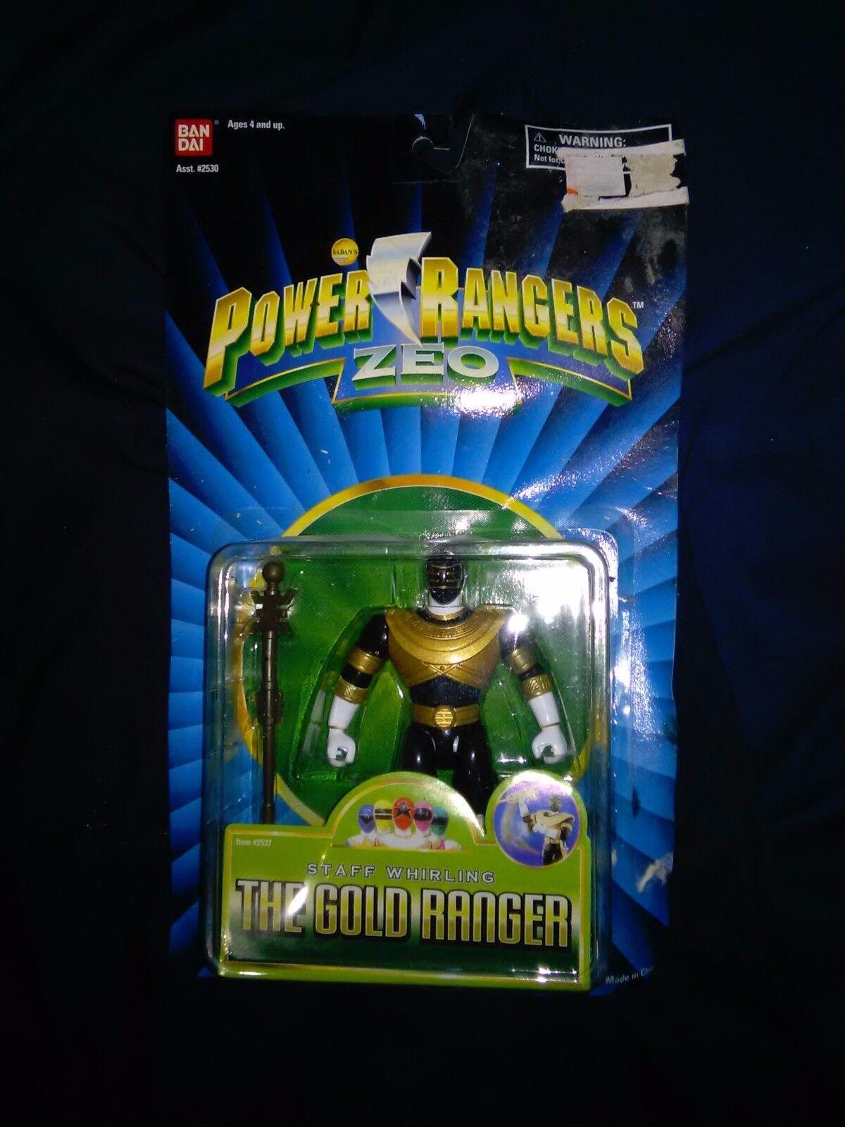 NEW / POWER VINTAGE 1995  POWER / RANGERS  GOLD ZEO RANGER  MOC   2530 dced8f