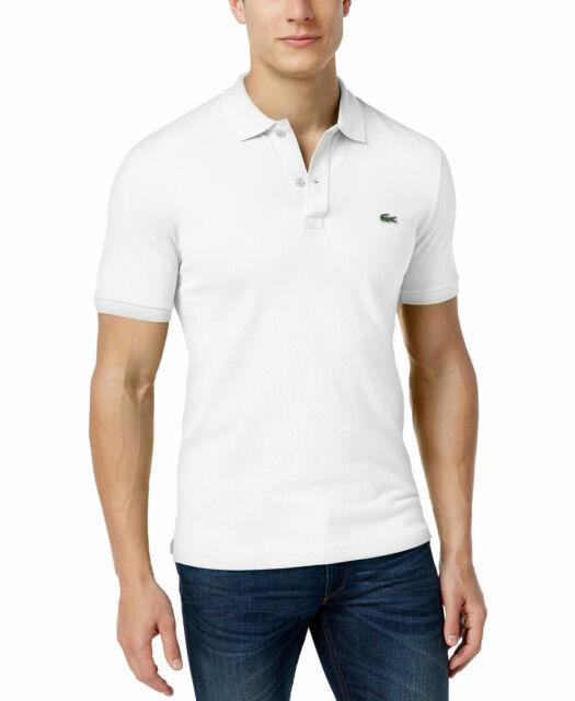 Mens Sz XXL 2xl 7 Lacoste Slim Fit Petit Pique Polo Shirt White Ph4012