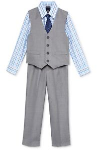 NWT-Boys-Nautica-4-Piece-Vest-Shirt-amp-Pants-Set-Size-6