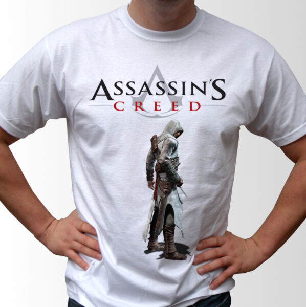 Assassins Creed Blanc T Shirt Jeu Top Design-homme Et Tailles Enfants Soulager La Chaleur Et La Soif.
