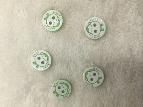New 50pcs  Baby Monkey kid/'s Plastic Buttons Sewing Craft 2 Holes 13mm